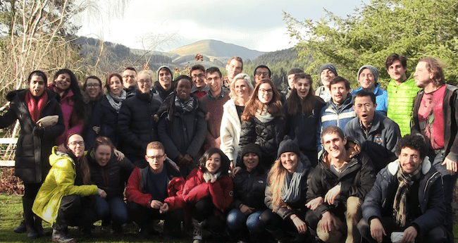 Masters students on the Environmental Change and Management course